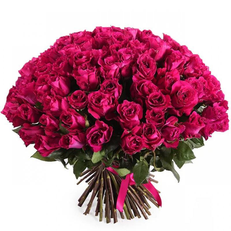 Малиновый букет цветов
